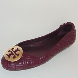 TORY BURCH QUILTED Minnie Travel Flat Port Leather